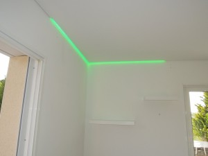 Détail éclairage - plafond-tendu
