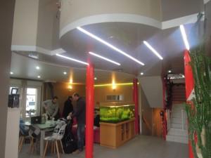 Hall et salle à manger - plafond-tendu