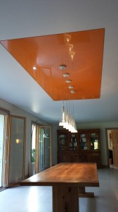 Encastré orange - plafond-tendu