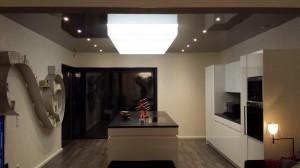 Salon laqué noir - plafond-tendu